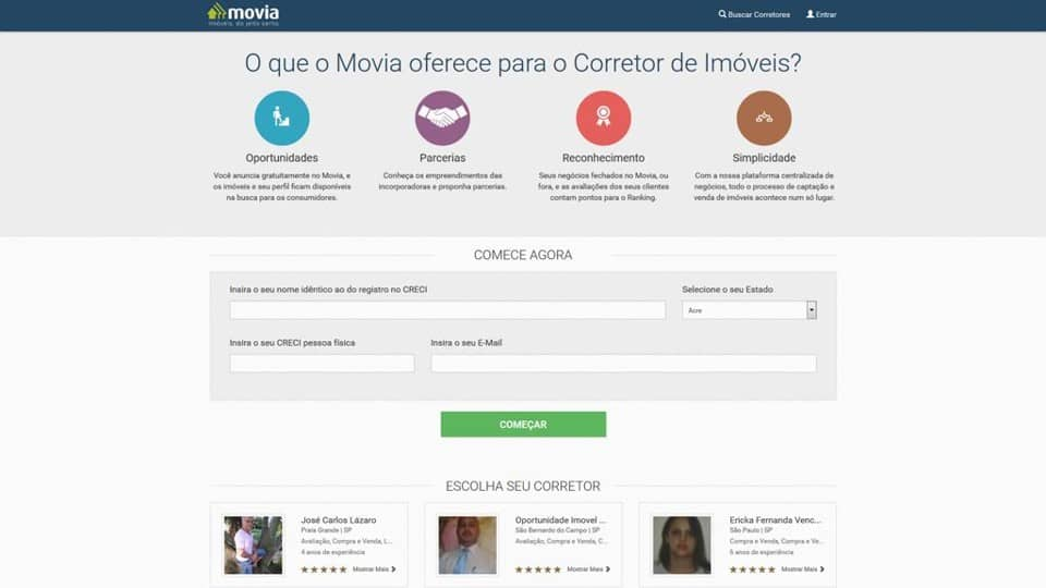 Empresa cria plataforma para conectar corretores de imóveis e clientes